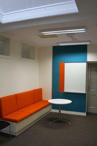 Acoustic Fabric Wrapped Panels & Banquette Seating
