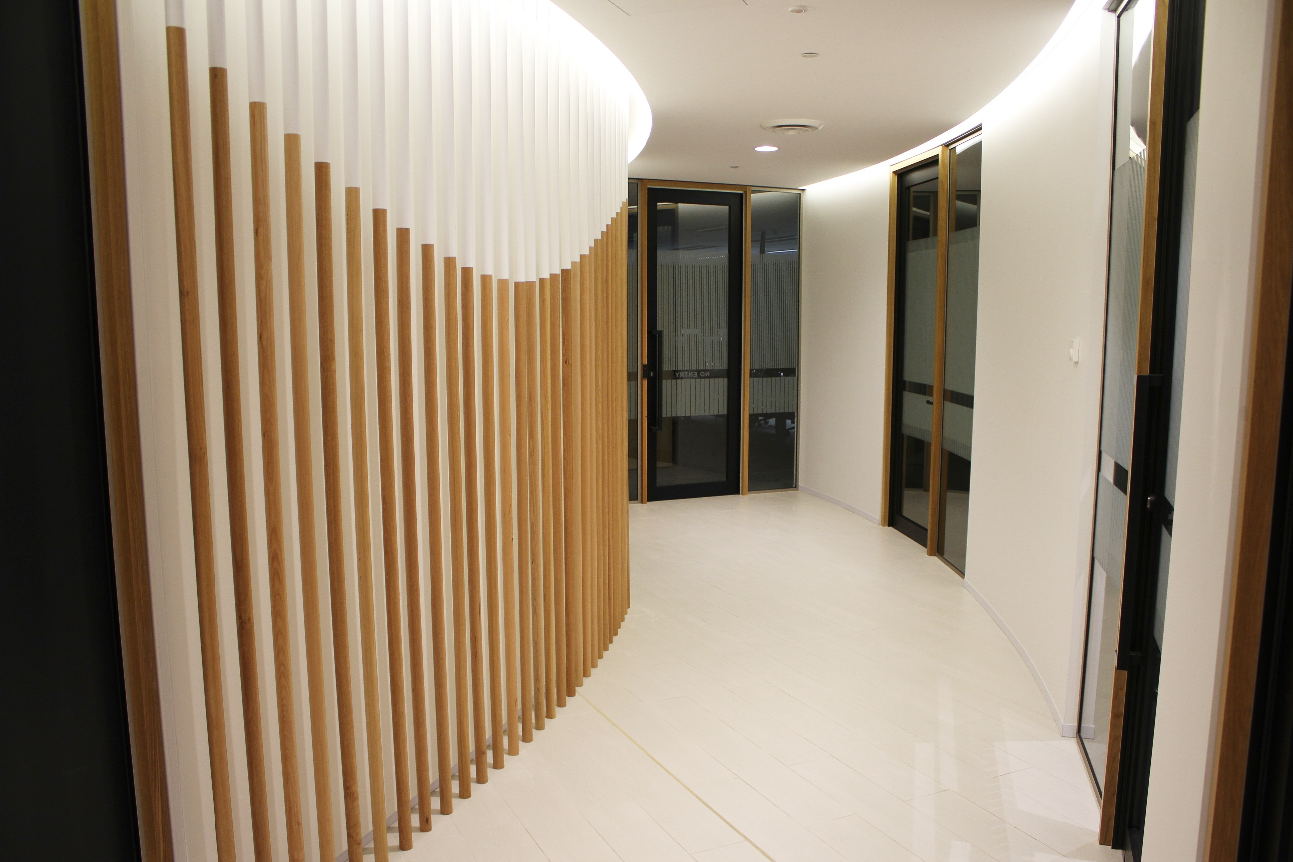 Curved Corridor fitted with Acoustic Panels