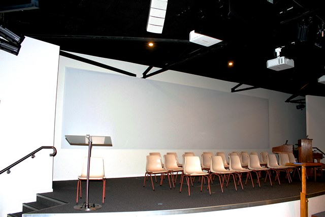 Acoustic Stretched Fabric Projector Screen