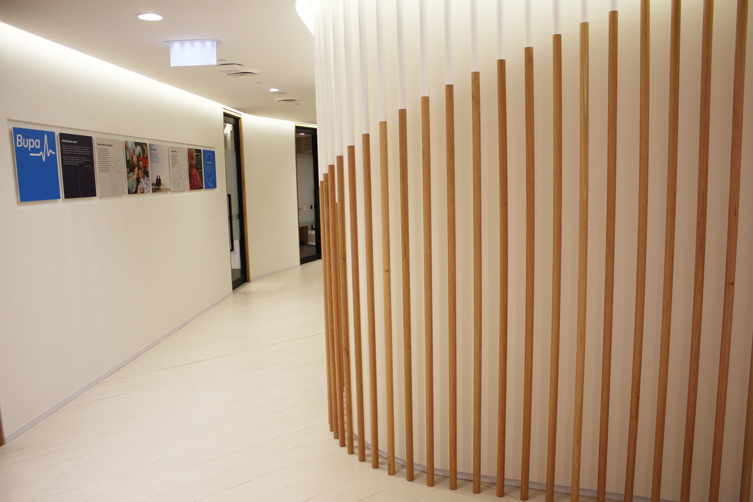 Corner fitted with Acoustic Panels